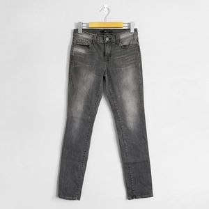 J BRAND Dark Faded Grey Mid Rise Skinny Jeans